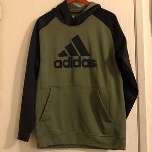 Olive Green and Black Adidas Hoodie